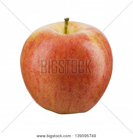 Red and yellow apple isolated in white background