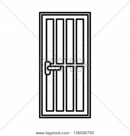 Steel door icon in outline style isolated vector illustration