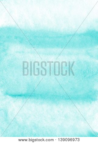 Abstract hand painted light blue watercolor background