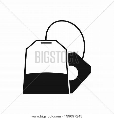 Teabag icon in simple style isolated vector illustration