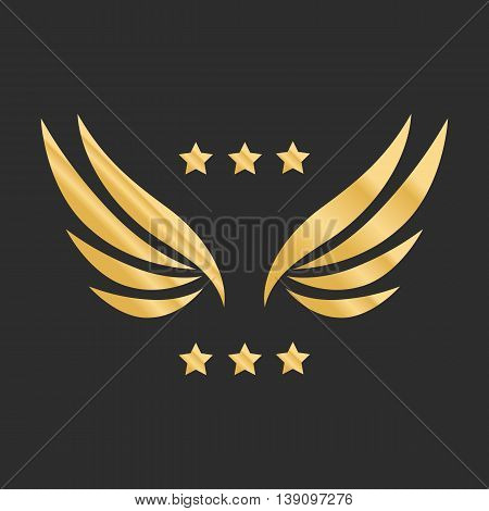 Vector graphic golden wings vector illustration eps 10