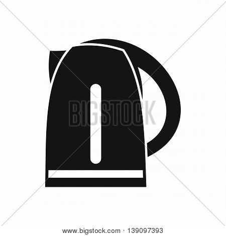 Electric kettle icon in simple style isolated vector illustration