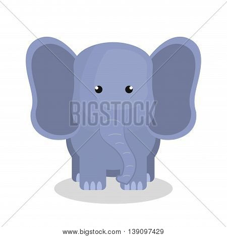 cute elephant isolated icon design, vector illustration  graphic