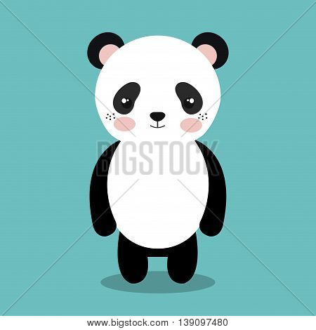 cute panda bear isolated icon design, vector illustration  graphic