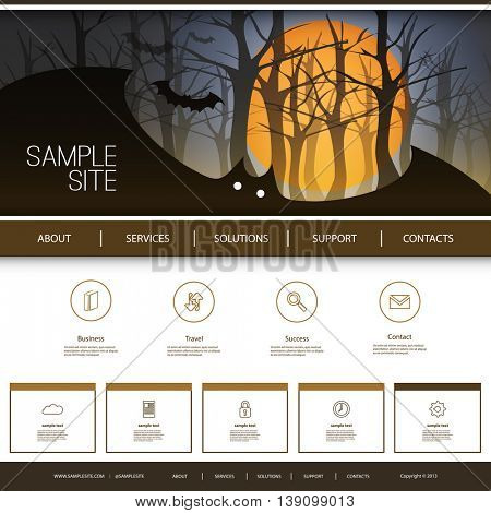 Website Design for Your Business with Halloween Theme