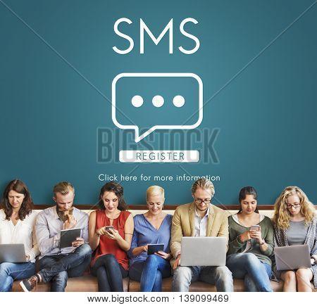 SMS Communication Online Conversation Message Concept