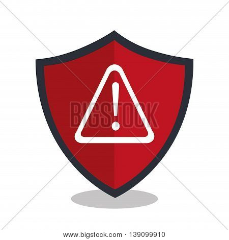 alert shield isolated icon design, vector illustration  graphic