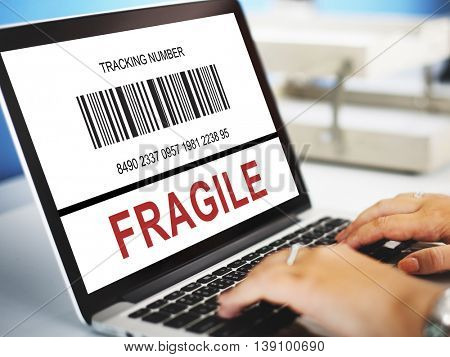 Business Barcode Fragile Concept