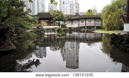 Vancouver, Canada - September 2014: Dr. Sun Yat-sen Classical Chinese Garden