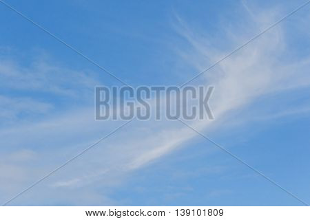 Beautifu lblue sky with cloud for background