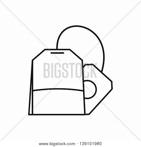 Teabag icon in outline style isolated vector illustration