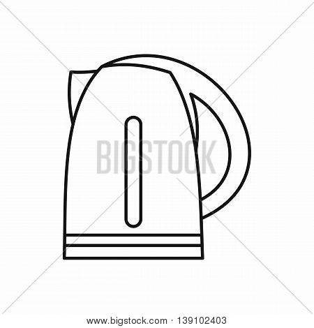 Electric kettle icon in outline style isolated vector illustration