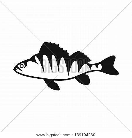 European perch, Perca fluviatilis icon in simple style isolated vector illustration