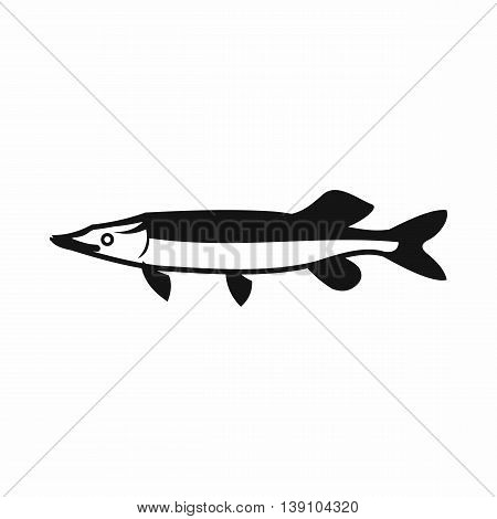 Saury icon in simple style isolated vector illustration
