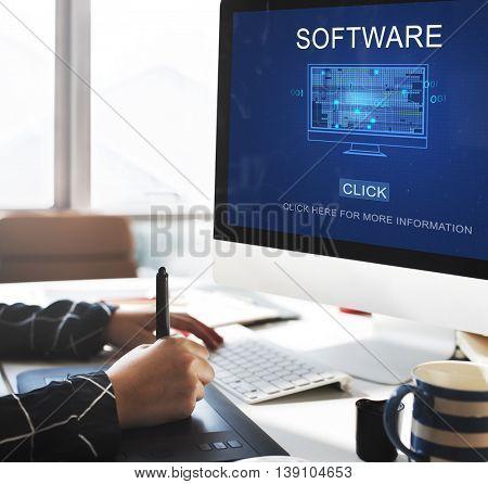 Software Data Digital Programs System Technology Concept