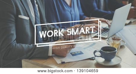 Work Smart Effective Efficient Productivity Planning Concept