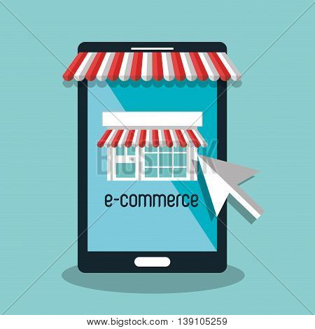 electronic commerce  isolated icon design, vector illustration  graphic