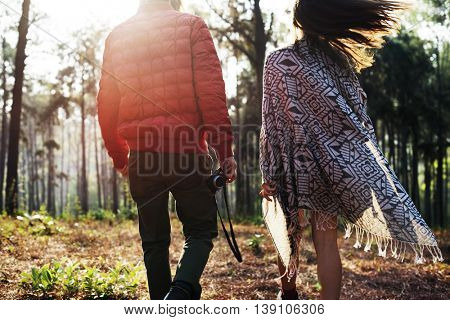 Camping Youth Walking Nature Holiday Concept