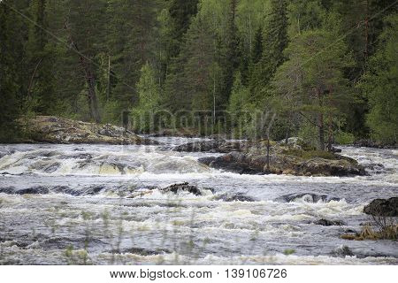 Rapids On The Swedish River Of Ammeraan
