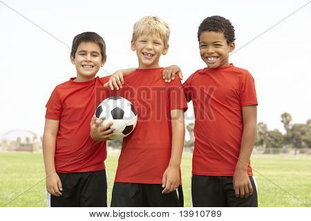 Young Boys In Football Team