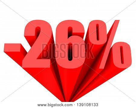 Discount 26 Percent Off Sale.