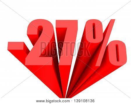 Discount 27 Percent Off Sale.
