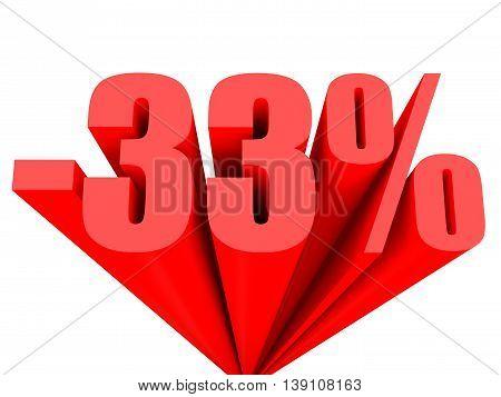 Discount 33 Percent Off Sale.