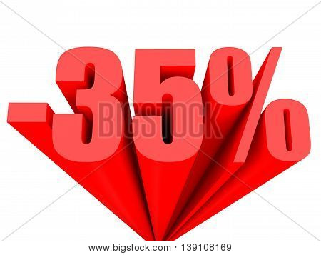 Discount 35 Percent Off Sale.
