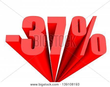 Discount 37 Percent Off Sale.