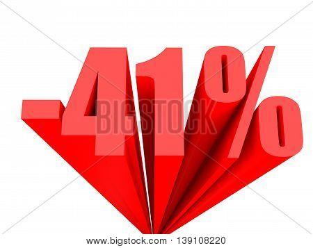 Discount 41 Percent Off Sale.