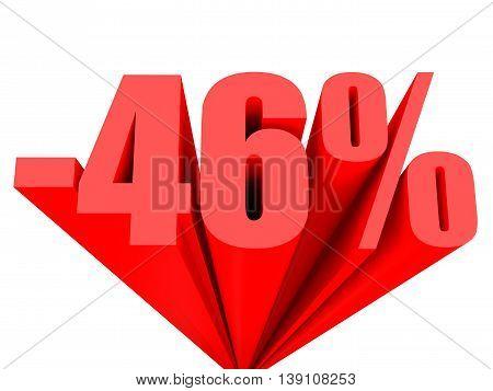 Discount 46 Percent Off Sale.