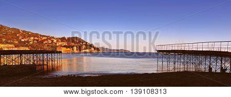panoramic view of Santa Margherita Ligure Italy