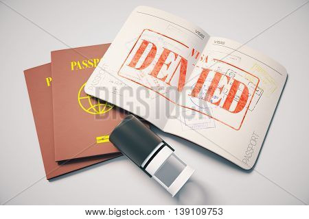 Passport With Denied Visa