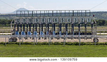 Start gates for horse races, Northern Caucasus
