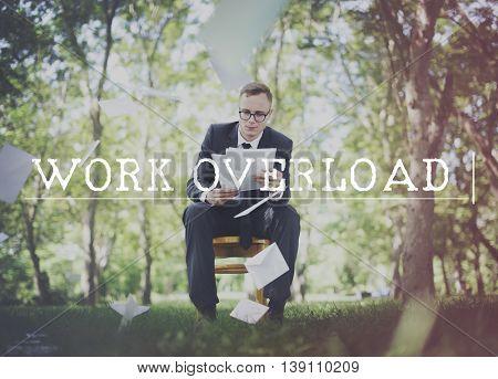 Work Overload Overtime Stress Management Concept