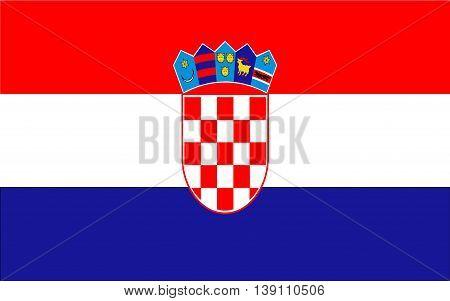 Croatia Flag  color and size original vector