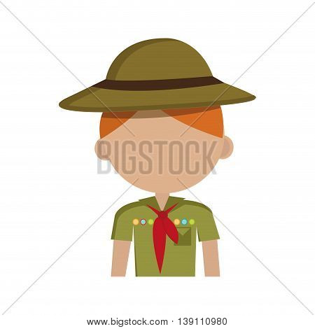 scout character isolated icon design, vector illustration  graphic
