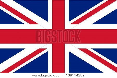 Flag of United Kingdom color and size original vector