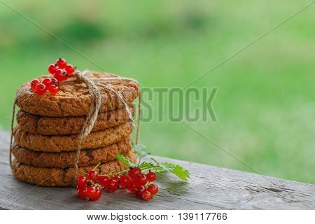 Oat Cookies With Red Currant
