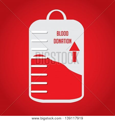 Healthcare and Medica, Blood donation Vector illustration
