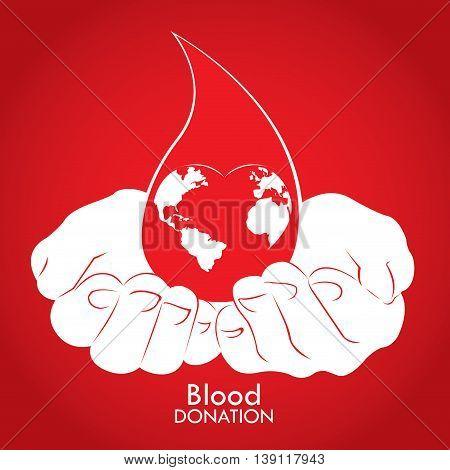 Blood Donation, Vector Illustration