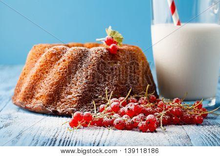 Festive Dessert Round Sponge Cake Homemade Pastries