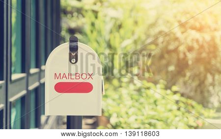 Home Metal Mailbox in with vintage filter