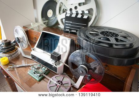 Movie Editing Vintage Desktop