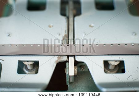 Super 8 Movie Editing Splicer Close Up