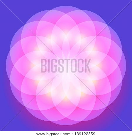 Colorful Shiny Smooth Gradient Color Natural Wallpaper Background. Vector Illustration EPS10