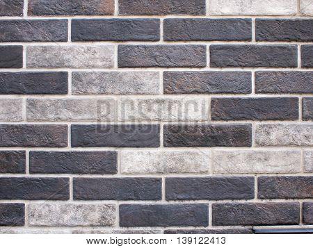 Decorative Brickwork Closeup Of Gray And Black Bricks