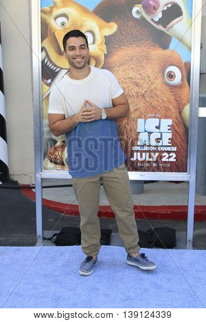 LOS ANGELES - JUL 17:  Oscar Rodriguez at the 'Ice Age: Collision Course' at the 20th Century Fox Lot on July 17, 2016 in Los Angeles, CA