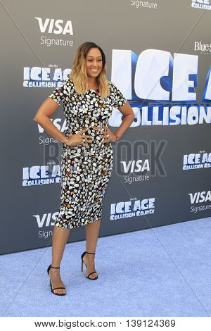 LOS ANGELES - JUL 17:  Tia Mowry at the 'Ice Age: Collision Course' at the 20th Century Fox Lot on July 17, 2016 in Los Angeles, CA