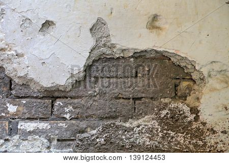 old wall with cracks in Gaeta - background